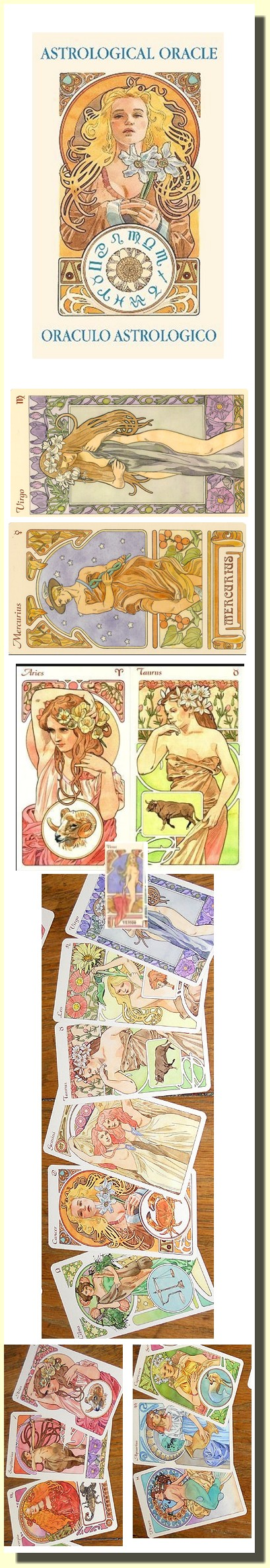 Astrological Oracle cards (22 karet)