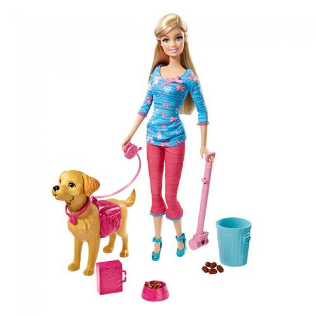 Barbie Doll with Her Puppy Taffy