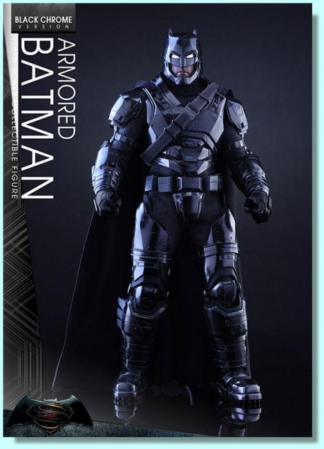 Armored Batman Black Chrome Sixth Scale Collectible Figure